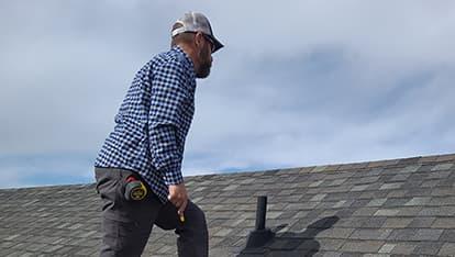 Ken doing a roof inspection in Denver, Co