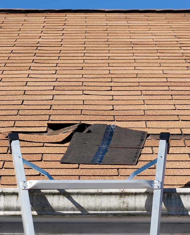 denver roof repair on a residential home