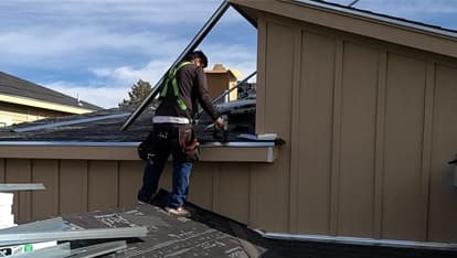 installing flashing and providing roofing services in denver by 303 roofer