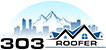 303 Roofer sticky logo